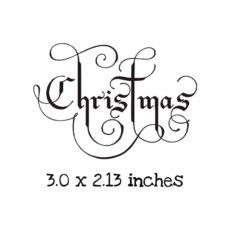 CM101D Christmas Flourish Rubber Stamp