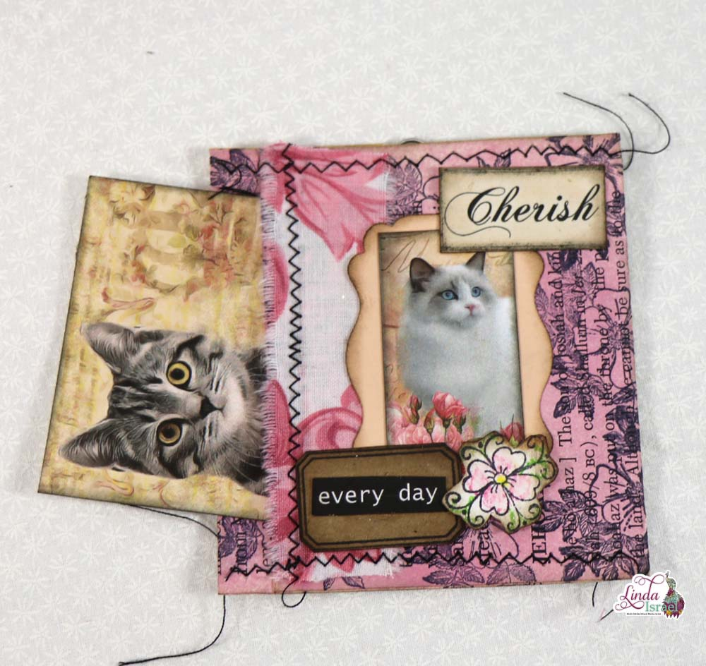 Cat Altered Paperclip with Pocket Tutorial