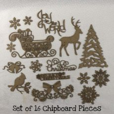 Christmas Dream Chipboard Pieces