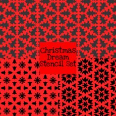 Christmas Dream Stencil Set