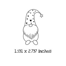 GN0102C Gnome 2 Rubber Stamp