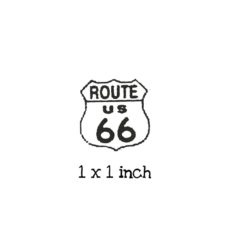 TP320B Route 66 Rubber Stamp